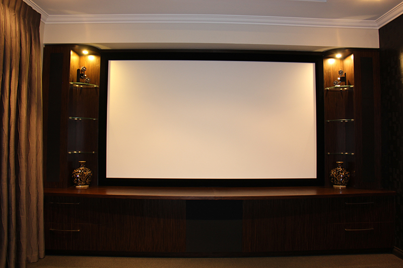 We can supply install and setup theatre projector screens perth